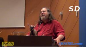 Click para ver el vídeo de la conferencia de  Richard Stallman en Ourense 09/12/2013