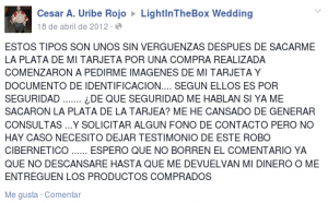 Estafa lightinthebox.com