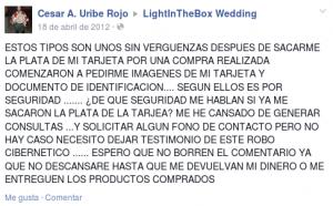 Estafa lightinthebox.com