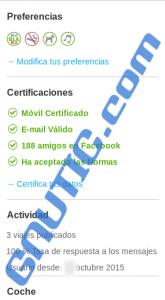 Perfil delictvo configurado en BlaBlaCar